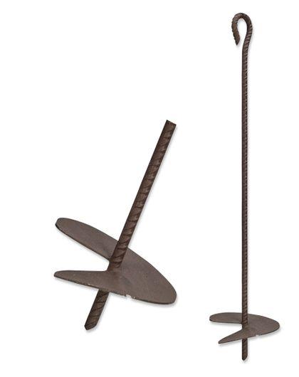 Kotwy sadownicze 24cm 110cm 4mm żebrowana